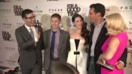 Jamie Travis guest Lauren Miller Andrew Karpen and Ari Graynor at 'For A Good Time Call ' New York Special Screening Presented By Focus Features at...