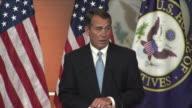 21 Jan 2009 MS Republican John Boehner giving speech at press conference / Washington D