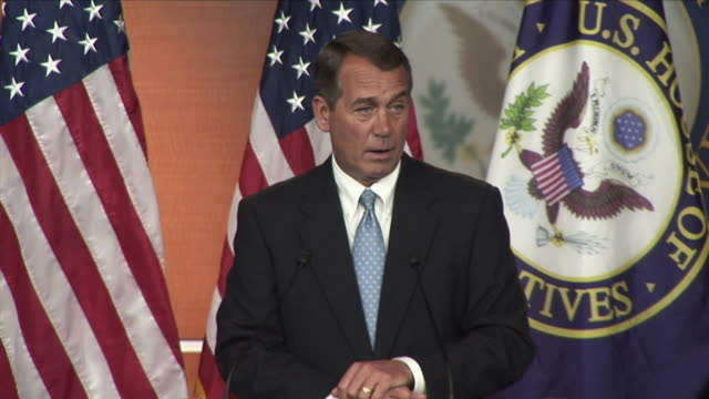 21 Jan 2009 MS Republican John Boehner giving speech at press conference / Washington D