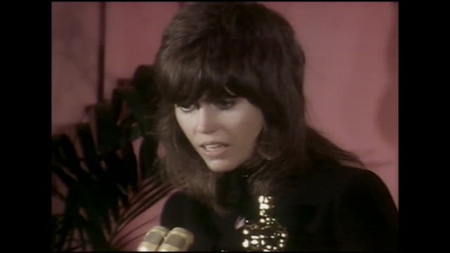 Jane Fonda Academy Award Winner KLUTE 1971 Press Room