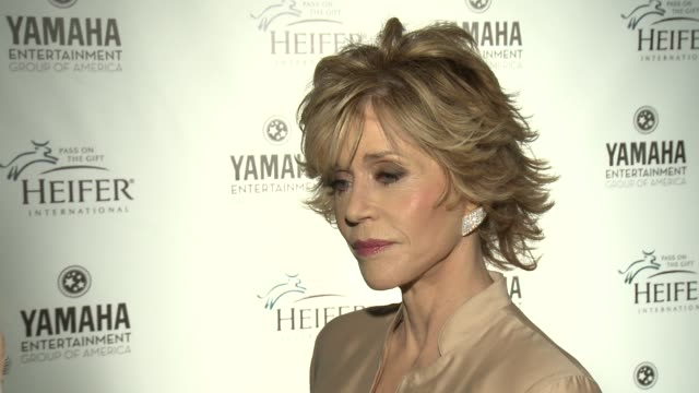 Jane Fonda on what it meant to her to have her daughter donate a Heifer in her honor to Peru through Heifer International what role Heifer...