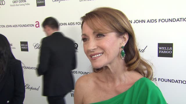 INTERVIEW Jane Seymour at Elton John AIDS Foundation Presents 21st Annual Academy Awards Viewing Party 2/24/2013 in West Hollywood CA