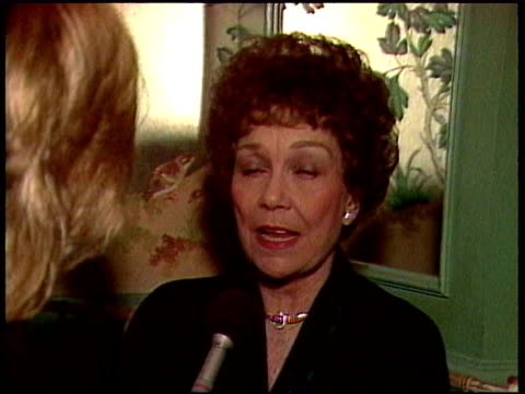 Jane Wyman exwife of Ronald Reagan talks about his presidency / She talks about her daughter Maureen Reagan / She explains why she hasn't been in...