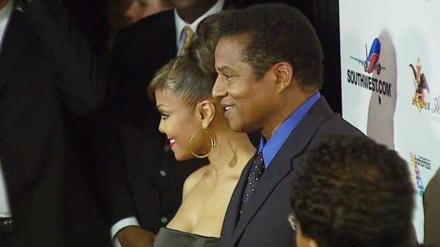 Janet Jackson and Jackie Jackson at the Ebony 2007 PreOscar Celebration at Jim Henson Studios in Los Angeles California on February 22 2007