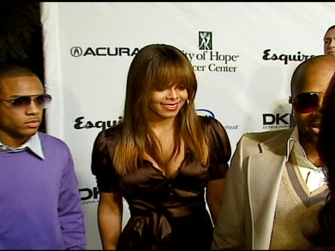 Janet Jackson and Jermaine Dupri at the Songs of Hope IV at Esquire House 360 at Esquire House in Beverly Hills California on November 1 2006