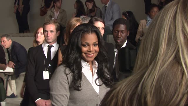 Janet Jackson at the MercedesBenz Fashion Week Spring 2010 Ralph Lauren at New York NY