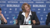 INTERVIEW Janet McTeer on what interested her in the role at 'Angelica' Press Conference 65th Berlin Film Festival at Grand Hyatt Hotel on February...