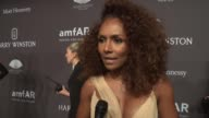 INTERVIEW Janet Mock talks about supporting AIDS research for LBGT and communties of color at 19th Annual amfAR New York Gala at Cipriani Wall Street...