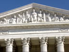 January 16 2009 ZO West Facade of the US Supreme Court building / Washington DC United States