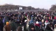 January 20 2009 HA WS PAN Crowd at the inauguration of Barack Obama / Washington DC / AUDIO