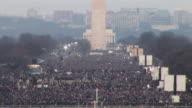January 20 2009 HA WS Crowd on the National Mall at the inauguration of Barack Obama / Washington DC / AUDIO