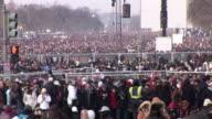 January 20 2009 HA WS ZO Crowd on the National Mall at the inauguration of Barack Obama / Washington DC / AUDIO
