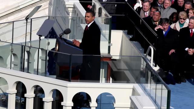 January 20 2009 HA MS President Barack Obama giving his inaugural address/ Washington DC/ AUDIO