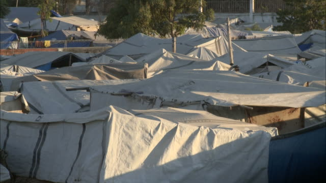 January 6 2011 PAN Roofs of various tents creating a makeshift neighborhood / Haiti