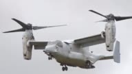 A US military Osprey aircraft arrives at an exercise area in Japan's northernmost prefecture of Hokkaido on Aug 18 to take part in an ongoing JapanUS...