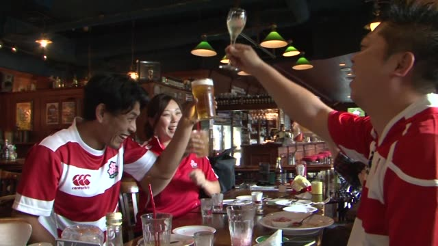 Japan celebrates its stunning win over South Africa at the Rugby World Cup inflicting the biggest shock in the tournaments history with a seismic...