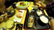 Japan food time lapse meal