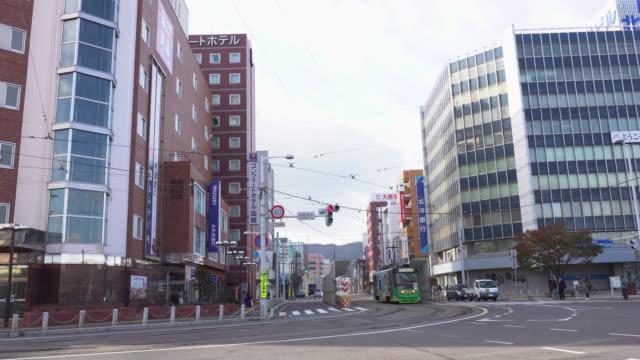 Japan-Straßenbahn-transportation_4K