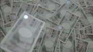 Japanese 10000 YEN.(Ichi-man Yen) Slow motion.