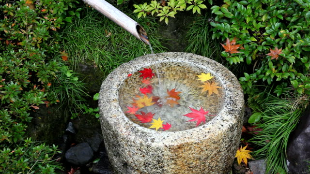 Japanese bamboo fountain.