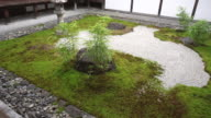 Japanese Buddhist Temple Courtyard