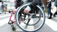 Japanese Crosswalk in a Wheelchair