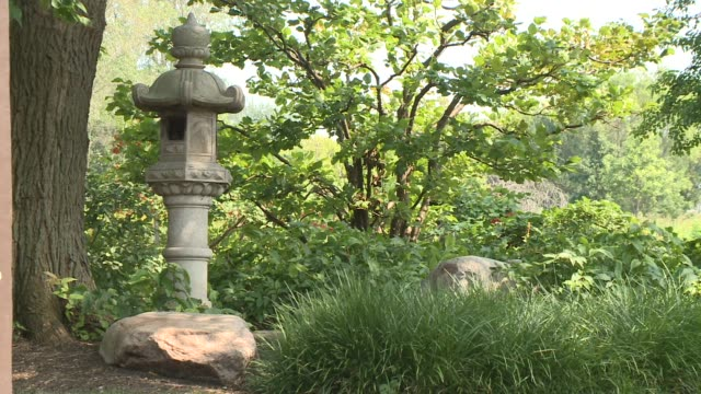 WGN Japanese Garden Garden of the Phoenix in Jackson Park in Chicago on August 27 2015