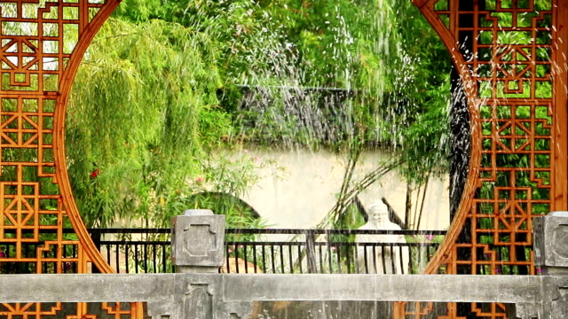 Japanese Garden with fountain