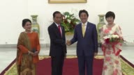 Japanese Prime Minister Shinzo Abe arrived at the the Bogor Presidential Palace on Sunday to meet with Indonesian President Joko Widodo with whom he...