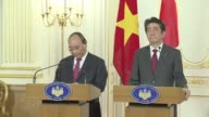 Japanese Prime Minister Shinzo Abe met with his Vietnamese counterpart Nguyen Xuan Phuc in Tokyo on Tuesday with Abe saying they agreed on the need...