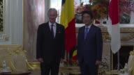 Japanese Prime Minster Shinzo Abe meets Belgian King Philippe in Tokyo
