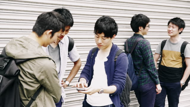 MS Japanese students hanging out after school