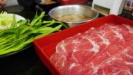 Japanese style cuisine called sukiyaki