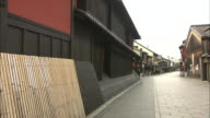 Japanese Traditional Street In Kyoto