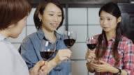 Japanese Women Tasting Wine
