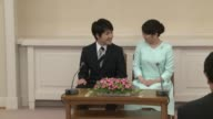 Japan's Princess Mako and her fiance a commoner announces their engagement a match which will cost the princess her royal status according to a law...