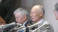 Japans Satoshi Omura joint winner of the Nobel Medicine Prize for work on parasite therapies gave a press conference in Tokyo following the...