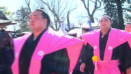 Japan's sumo wrestling grand champion Hakuho joined the beans throwing ceremony held at Setsubun day the final day of winter on the traditional...