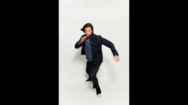 Jared Padalecki poses for a portrait gif at the 2017 ComicCon Portrait Studio at Hard Rock Hotel San Diego on July 21 2017 in San Diego California