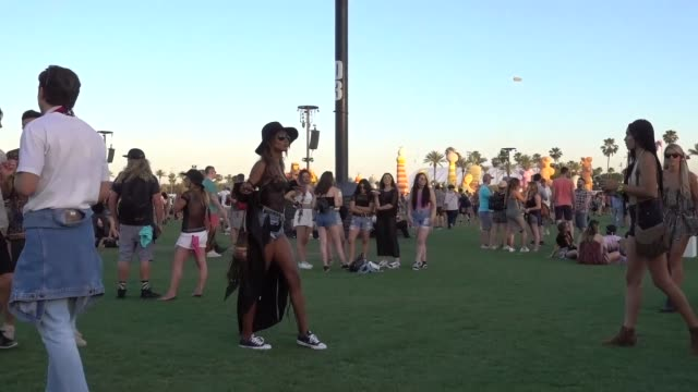 Jasmine Tookes at the Coachella Valley Music and Arts Festival in Indio at Celebrity Sightings in Los Angeles on April 15 2017 in Los Angeles...
