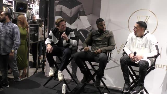 Jason Derulo Justin Berkowitz Antonio Brown at the Launch Of LVL XIII Men's Luxury Wear at Bloomingdale's on October 08 2017 in Century City...