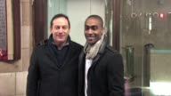 Jason Isaacs and Simon Webbe at the Celebrity Video Sightings In London at London England