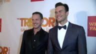 Jason Landau and Cheyenne Jackson at The Trevor Project's 2014 'TrevorLIVE' Event Honoring Arianna Huffington at Marriott Marquis Hotel on June 16...