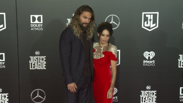 Jason Momoa and Lisa Bonet at the 'Justice League' World Premiere at Dolby Theatre on November 13 2017 in Hollywood California