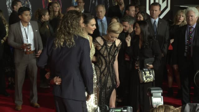 Jason Momoa Lisa Bonet Gal Gadot and Amber Heard at the 'Justice League' World Premiere at Dolby Theatre on November 13 2017 in Hollywood California