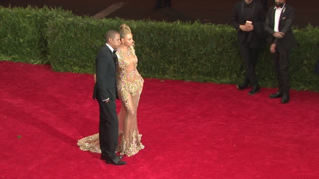 JayZ Beyonce at 'China Through The Looking Glass' Costume Institute Benefit Gala Arrivals at Metropolitan Museum of Art on May 04 2015 in New York...