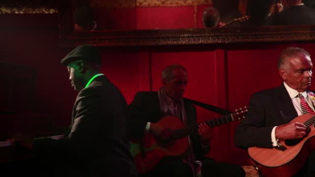 Jazz Band Jams In Nightclub.