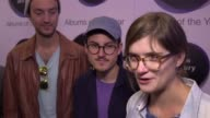Jazz group Dinosaur give an interview on the red carpet of the Hyundai Mercury Prize 2017 after being nominated for their album Together As One