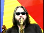 Jazz saxophonist Steve Grossman performing, Great Britain