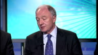 Claims that report has been delayed until after the London mayoral elections ENGLAND London GIR INT Ken Livingstone LIVE STUDIO interview SOT [Asked...